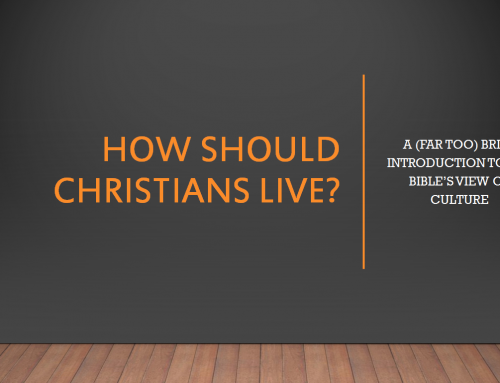 [2019.10.21] 부모교육-How should Christians live (3)